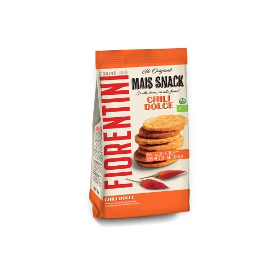 Mini Gallette di Mais al Chili - Chipsuri eco cu chili fara gluten x 50 g